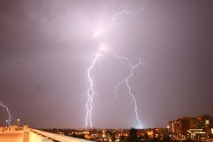 Lightning taking out power by Coryphaeus