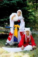 InuYasha vs. Sesshomaru by MisaKaterina