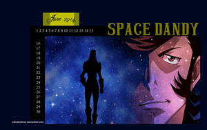 Calendar Wallpaper - June 2014 - Space Dandy by edinaholmes