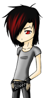 Emo Chibi Boy by tabbycat1212