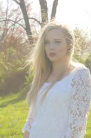 Outside Lace Dress Young Blonde Woman Stock photo1 by skinagainstface