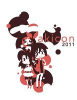 Aki con shirt design by AKI-Con