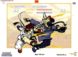 Once upon a fight: Ryu VS Lee by Cilab