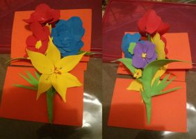 Valentines hand made flowers by fantasywar2