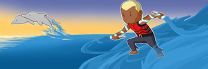 Scribblenauts Unmasked Contest: Aqualad by vwangvocaloid