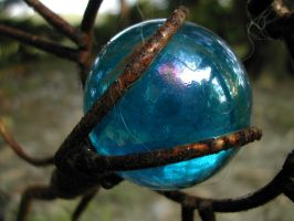 Blue Irridescent Ball by lykwyd-stock