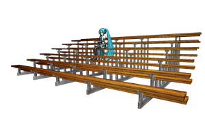 MMD Bleachers by mbarnesMMD