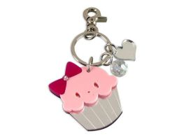 Miss Cupcake Crystal Key Chain by SweetandCo