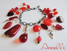 Red and Black Bracelet by Anne-Claire-Annelle