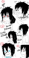 Laughing Jack and Jeff The Killer-'Short' comic. by MikaelBratLoni