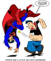 Popeye and Supes colored by dannphillips