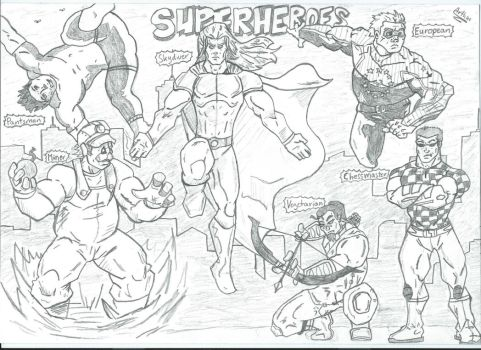 Superheroes by demoncommand