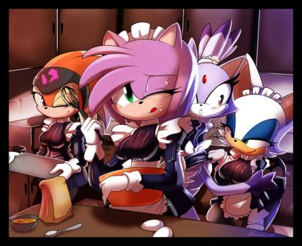 Shade, Amy, Blaze and Rouge by nancher