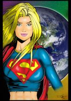 Carl Riley's Supergirl - colours by hellbat