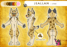 Jeallan the Lynx - Reference sheet by FurryFursuitMaker