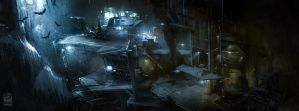 Batman Arkham Origins Batcave. by Gryphart