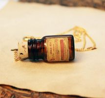Amber Poison Bottle Necklace 3 by asunder
