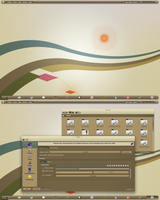 Arch KDE BE::SHELL Brown Theme WIP by CraazyT