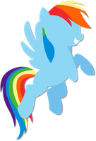 Simple Rainbow Dash vector by FKandFriends