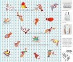 Cute finch cartoon pattern by emmil