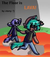 the floor is lava cover page by DalmationCat