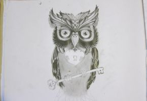 Owl made by pencil by Konsta-Dinos
