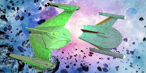 Romulan Ship Scale Test 005 by thomvinson