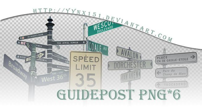 Guidepost png pack #02 by yynx151