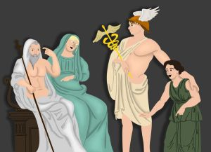 Hermes, Hades and Persephone