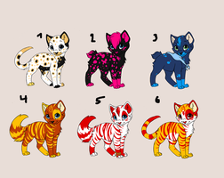 closed kitty adoptables by wingedmeow