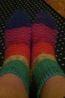 Rainbow Waves Socks by KleinSabi