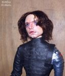 Winter Soldier inspired 1/6 scale art doll by LilliamSlasher