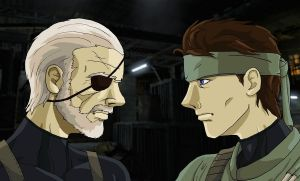 Big Boss vs Solid Snake by SuperDouma