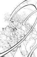 Marvel Riot Cover Fantastic Four By Roger Cruz by RODYTSUMURA