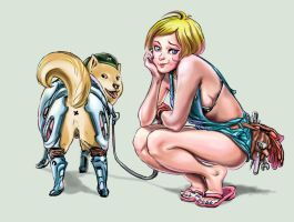 Dogevara and Owner by anchan