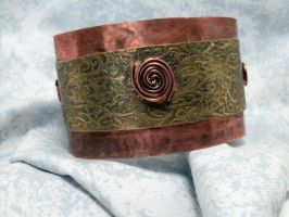 Mixed Metal Cuff by lilesj