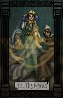Mythology Tarot Norns by TheBlindProphetess
