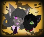 The Bat and the Cat by Black-Ice-Gryphon