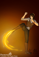 Firebender Huore of the Pygmy Pumas by ThirdEcho