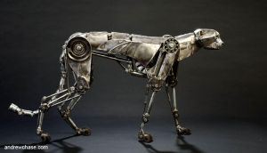Mechanical metal cheetah walking by Andrew-Chase