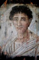 Fayum mummy portrait 2 by Lijah