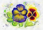 Pansies For My Grandfather Alejandro Hurovich by LIDIAMARINA