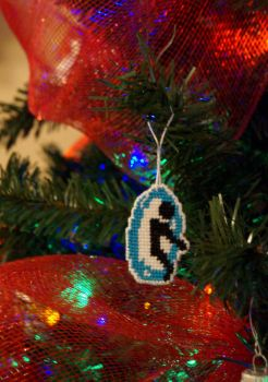 Blue Portal - Christmas ornament by GothicMisty