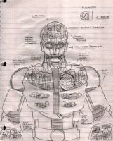 Kikaider 01 - Rough Draft by Gundamu