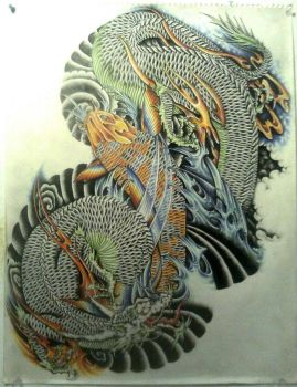 Dragon And Koi Project Finish by ElTri