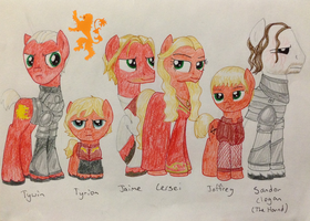 House Lannister: Hear Me Neigh by Qemma