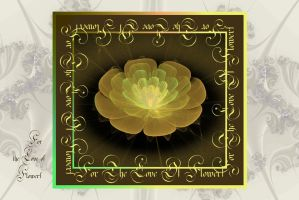 For The Love Of Flowers Card by FractalBee