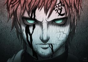 Gaara - Fume by linnyxito