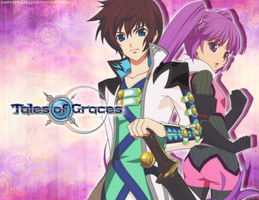 Asbel and Sophie by darkerrizzie