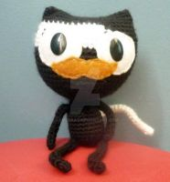 mustache cat by AAMurray